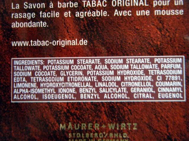 Ingredient Tabac